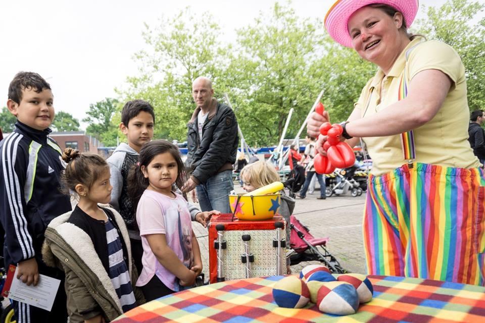 Clown Kiko bij 'Dit is Dukenburg' in Nijmegen