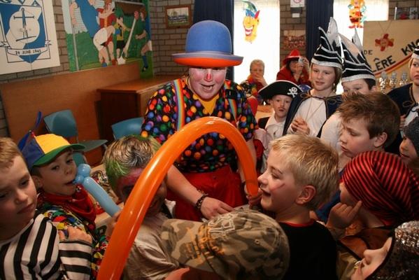 Ballonnenclown Kiko met Carnaval