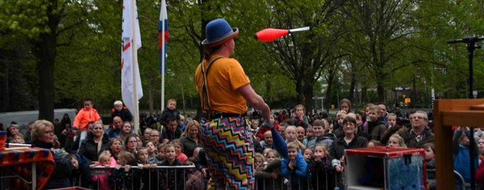 Clown Kiko Show Bevrijdingsdag Katwijk