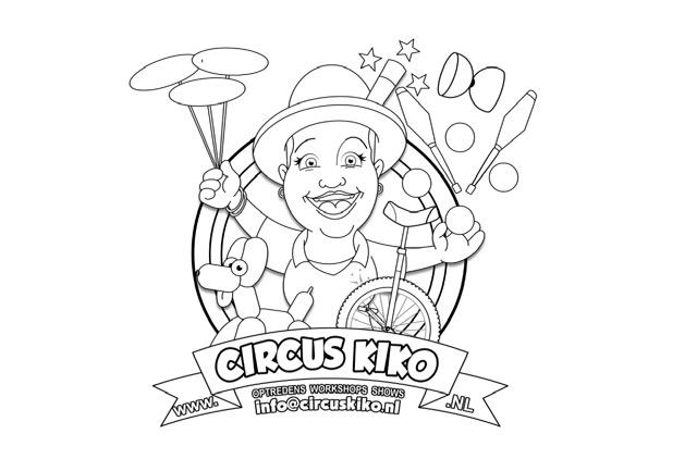 Kleurplaat van Circus Kiko
