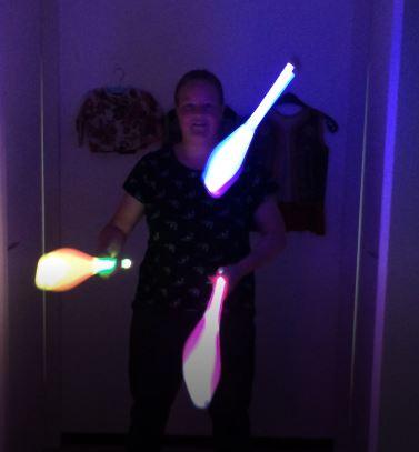 LED licht jongleren
