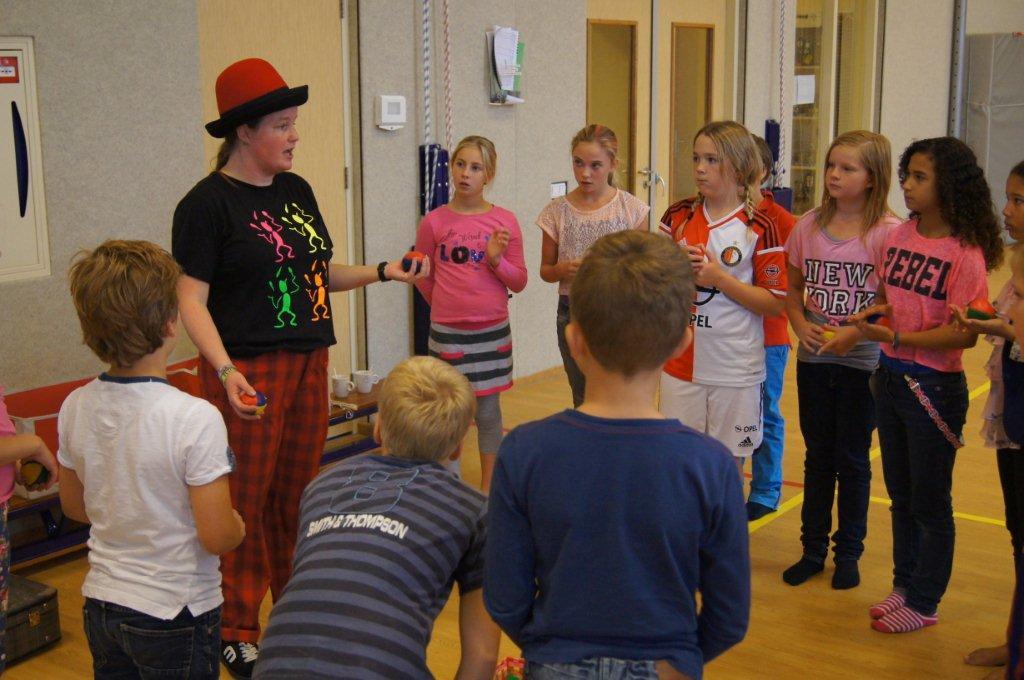 circus kiko workshops dag op school jongleren uitleg