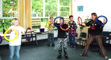 circus kiko workshops dag op school ringen jongleren