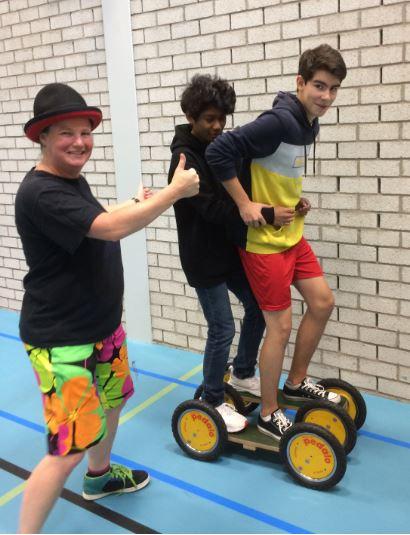 Circus Kiko circus workshops middelbare school sportklas